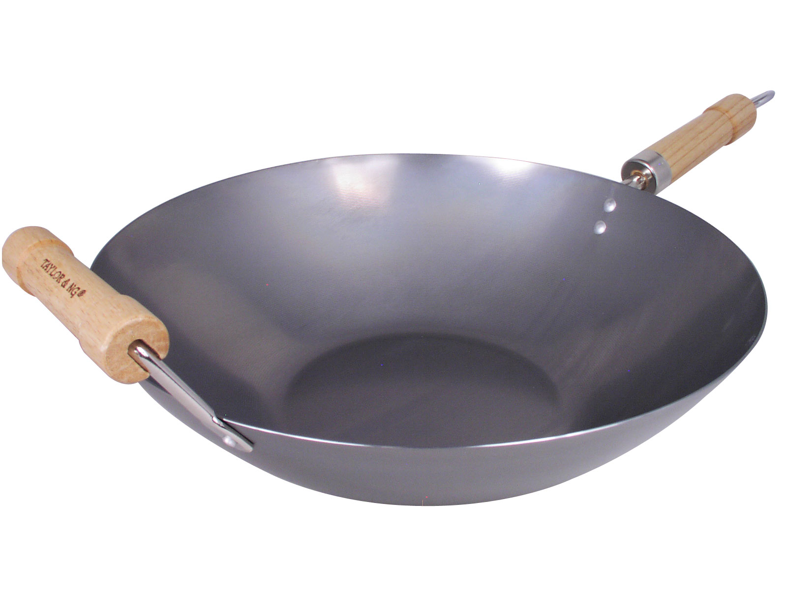 Kitchen Canisters Sets 14 Inch Flat Bottom Non Seasoned Carbon Steel Wok
