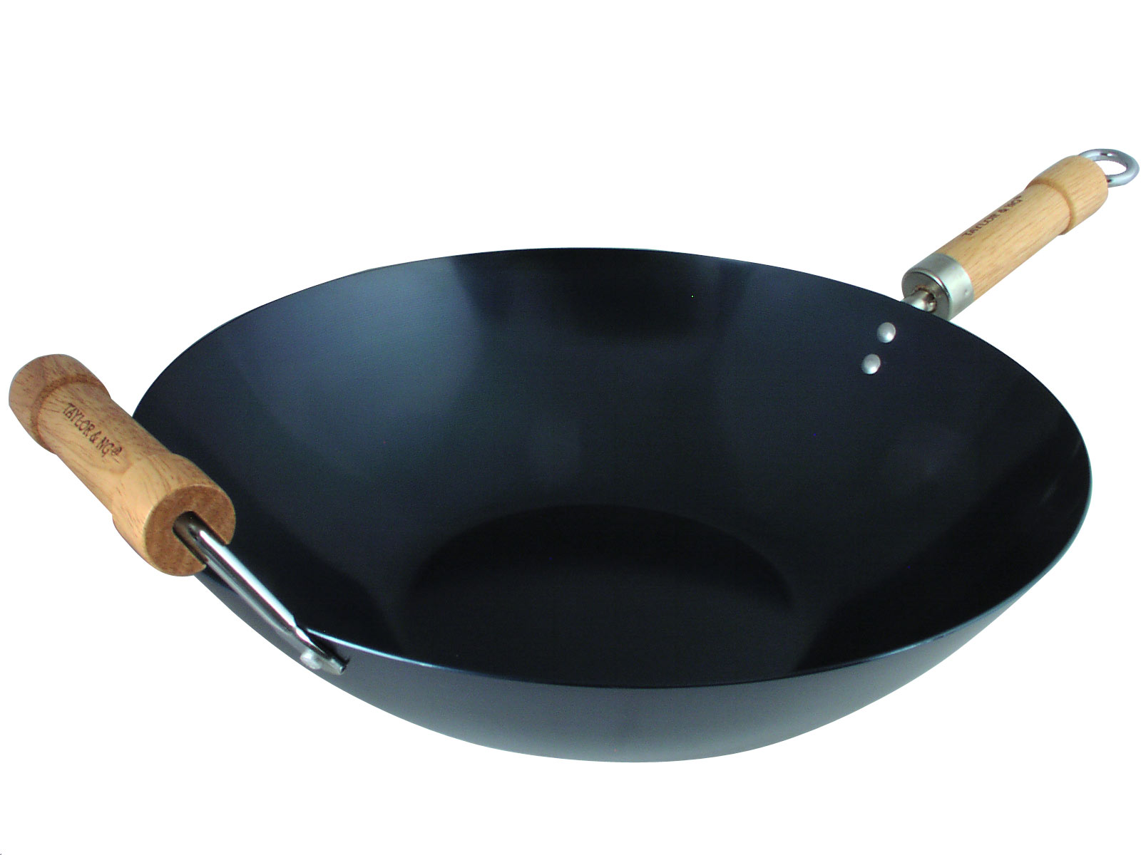 14 Inch Preseasoned Carbon Steel Flat Bottom Wok