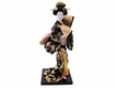 15 Inch Japanese Doll w/ Two Fans