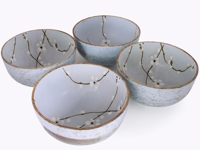 5-1/2 Inch Japanese Cherry Blossom Bowl Set of Four