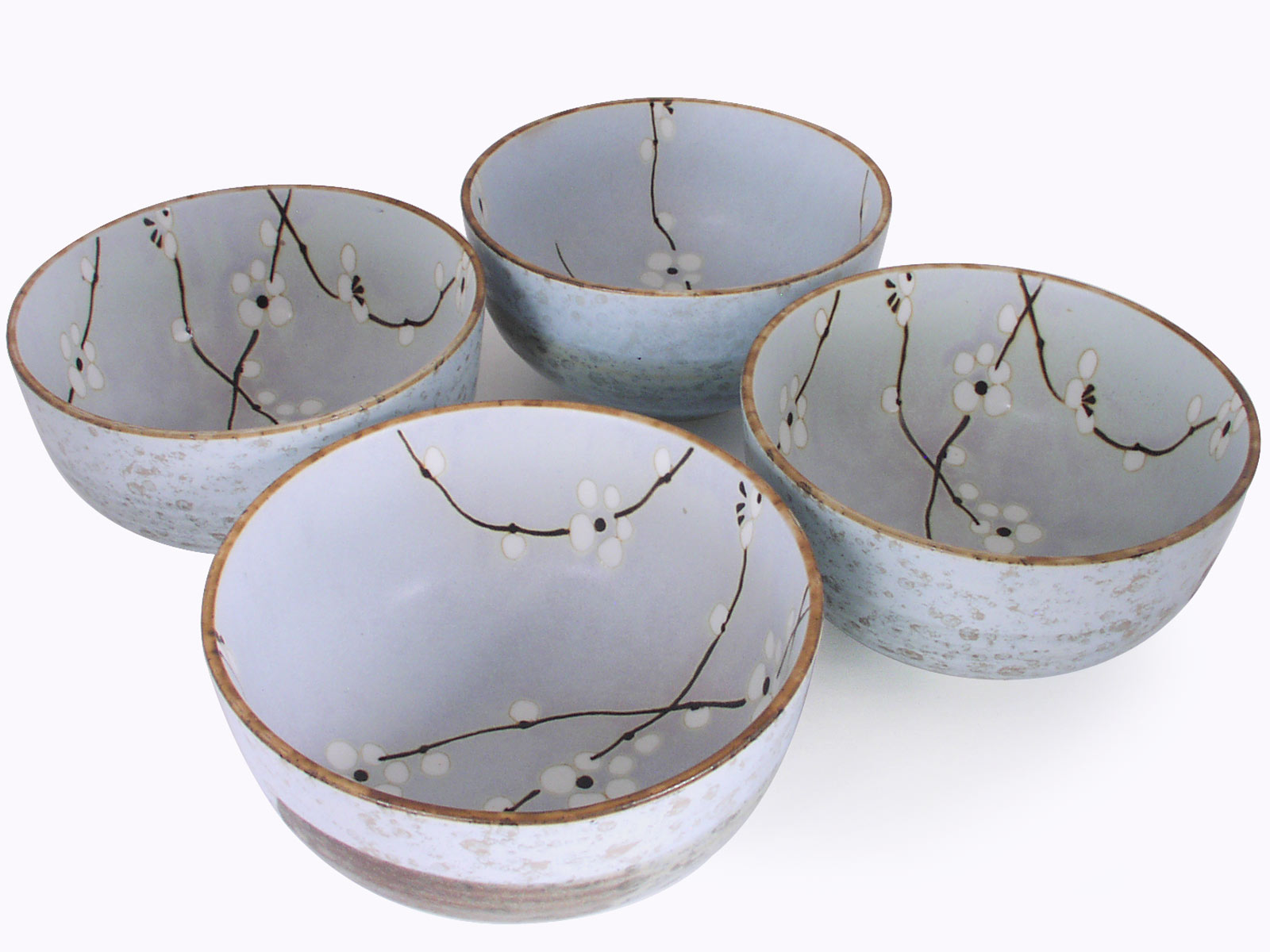 & 5-1/2 Inch Japanese Cherry Blossom Bowl Set of Four