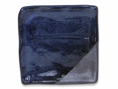 5-1/4 Inch Blended Shades Matte Black and Shiny Blue Japanese Square Plate