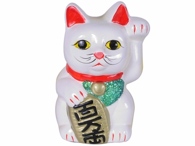 5-1/4 Inch Left Paw Raised Lucky Cat