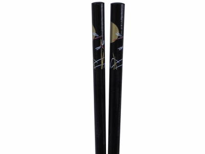 50 Pairs Dark Meadow Dragonflies and Golden Moon Black Bulk Chopsticks for Sale