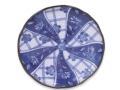 6-1/2 Inch Blooming Blue and White Cherry Blossom Plate