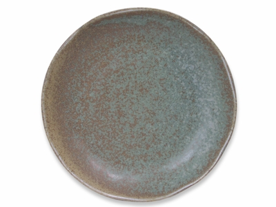 6-3/4 Inch Moss Green Japanese Plate