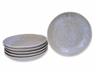 6-5/8 Inch Arctic Ice Japanese Plate Set for Six