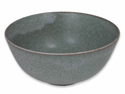 6 Inch Moss Green Ceramic Noodle Bowl