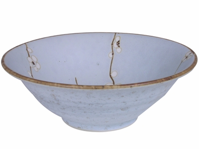 7-3/4 Inch Cherry Blossom Asian Ceramic Bowl