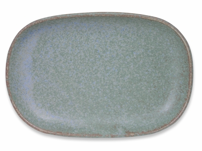7-3/8 Inch Moss Green Japanese Sushi Plate