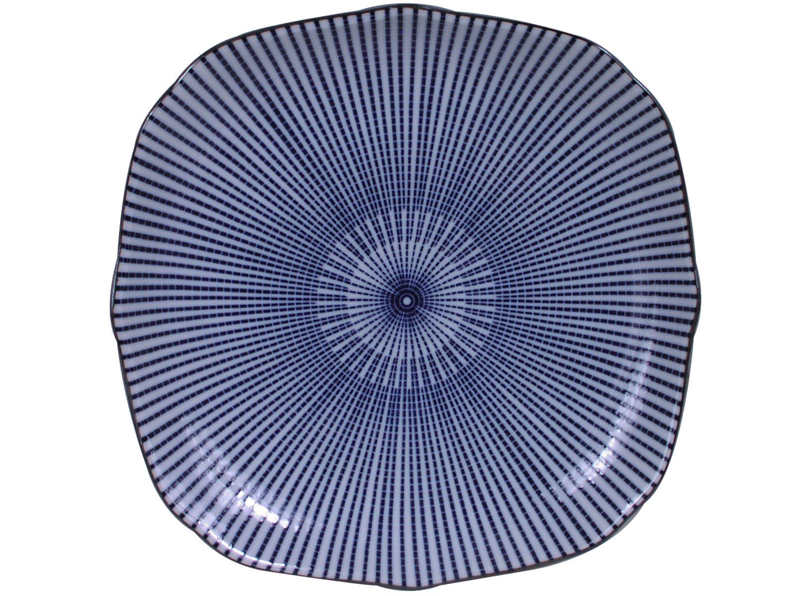 9 Inch Blue And White Parasol Illusion Japanese Square
