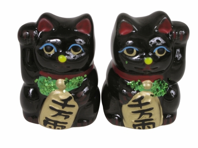 Adorable Small Black Lucky Cat