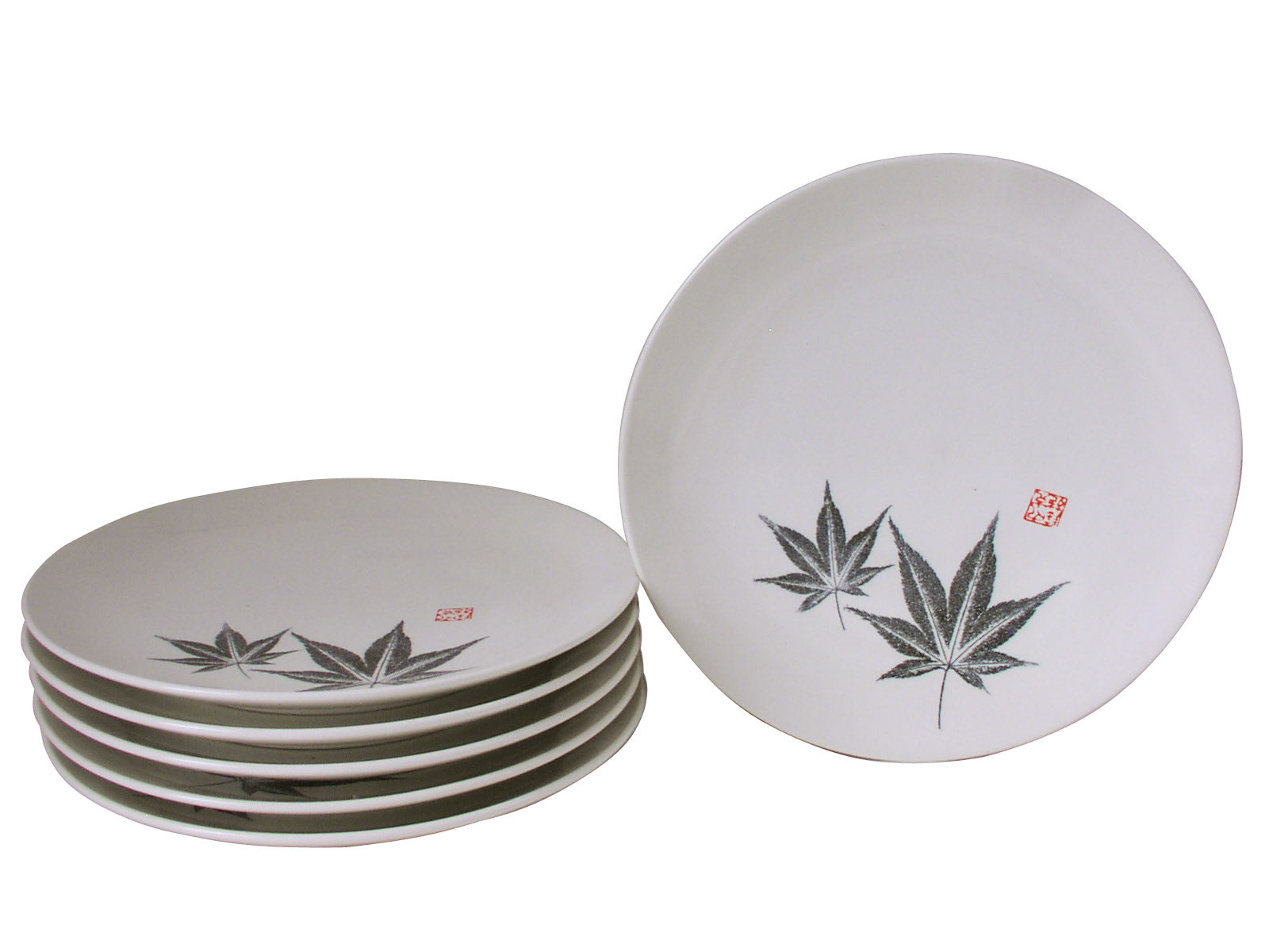 Amber Glow Japanese Maple Asian Dinnerware Plates Set for Six  sc 1 st  Mrs. Lin\u0027s Kitchen & Glow Japanese Maple Asian Dinnerware Plates Set for Six