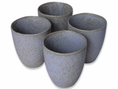 Arctic Ice Traditional Japanese Ceramic Teacups Set for Four