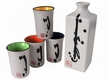Asian Landscape Sake Sets
