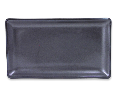 Black Alloy Collection Rectangular Dinner Plate