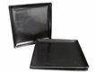 Black Alloy Collection Square Japanese Dinner Plates Set of Three