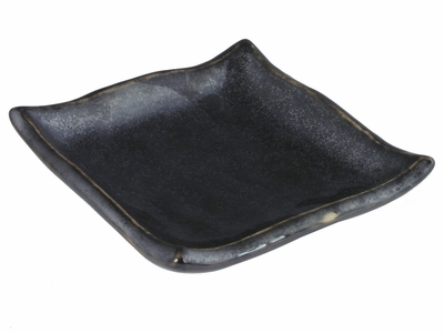 Black Alloy Collection Square Japanese Small Sauce Dish