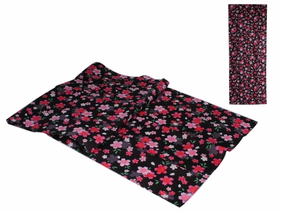 Black and Pink Cherry Blossom Japanese Hand Towel