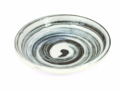 Black and White Swirl Saucer