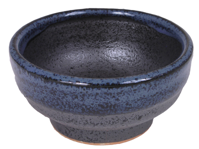 Blended Shades Matte Black and Shiny Blue Japanese Sauce Dish