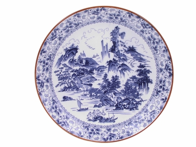Blue and White Calming Japanese Countryside Asian Platters