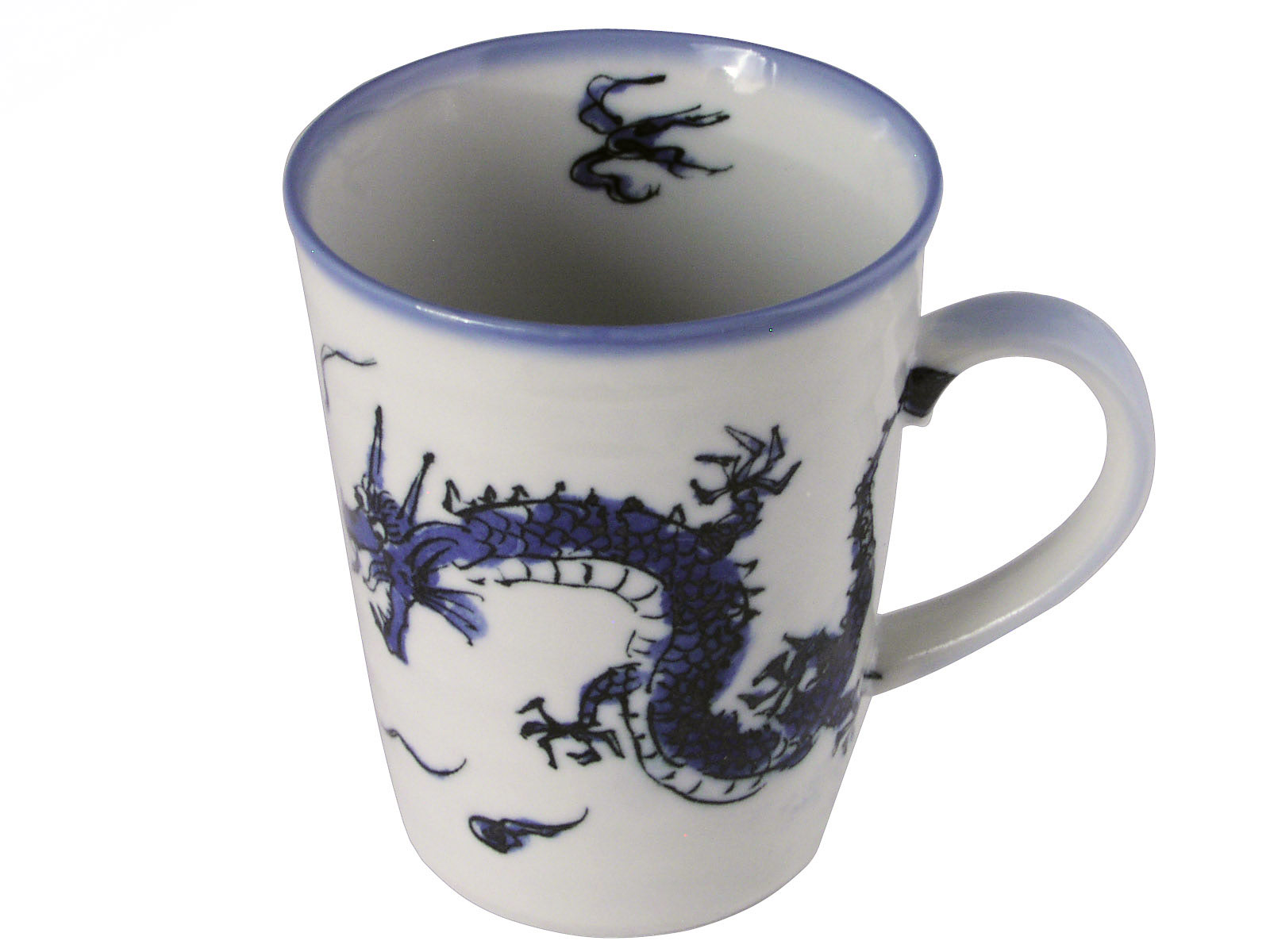 Blue And White Dragon Japanese Ceramic Tea Mug
