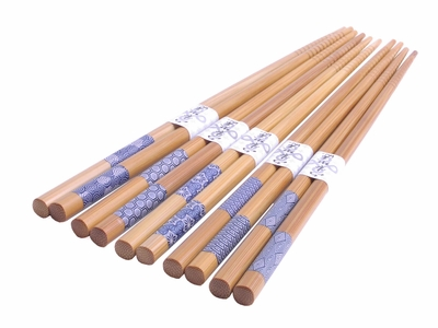 Blue and White Japanese Patterns Chopsticks Set