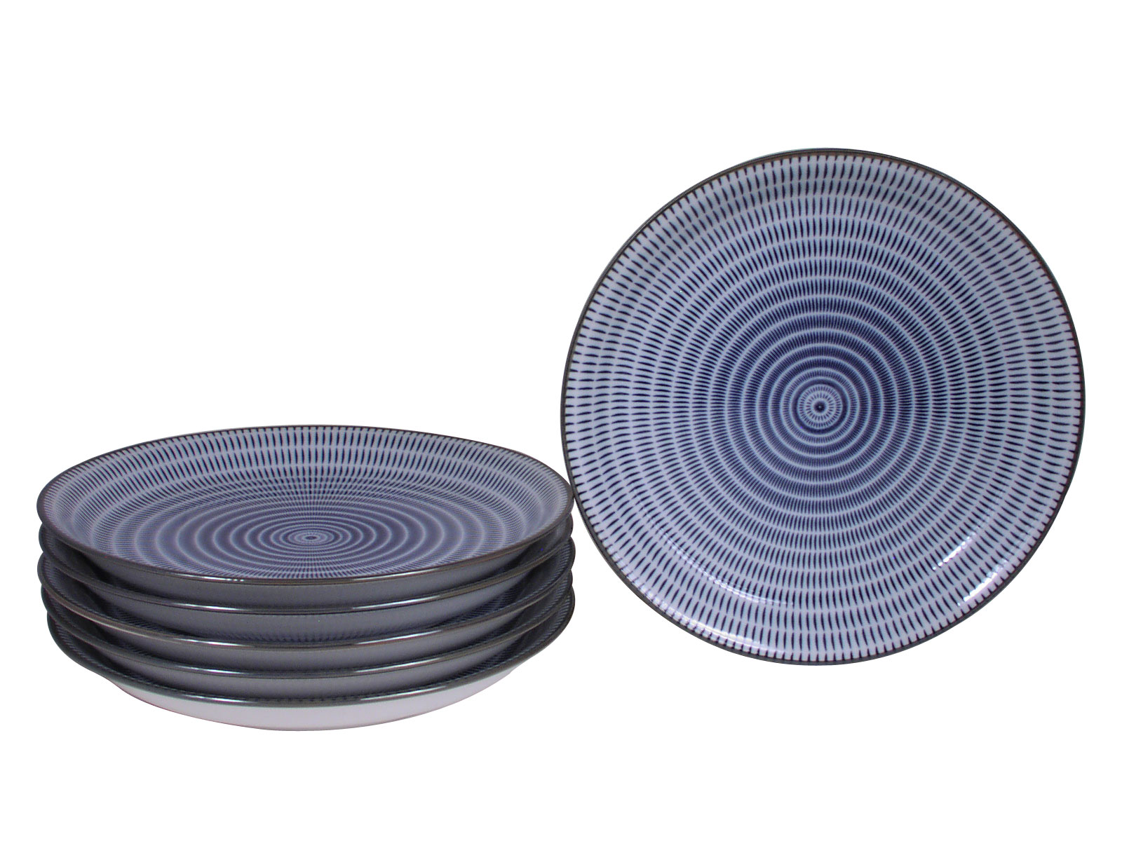 Large Kitchen Canisters Blue And White Modern Spiral Japanese Plates Set For Six