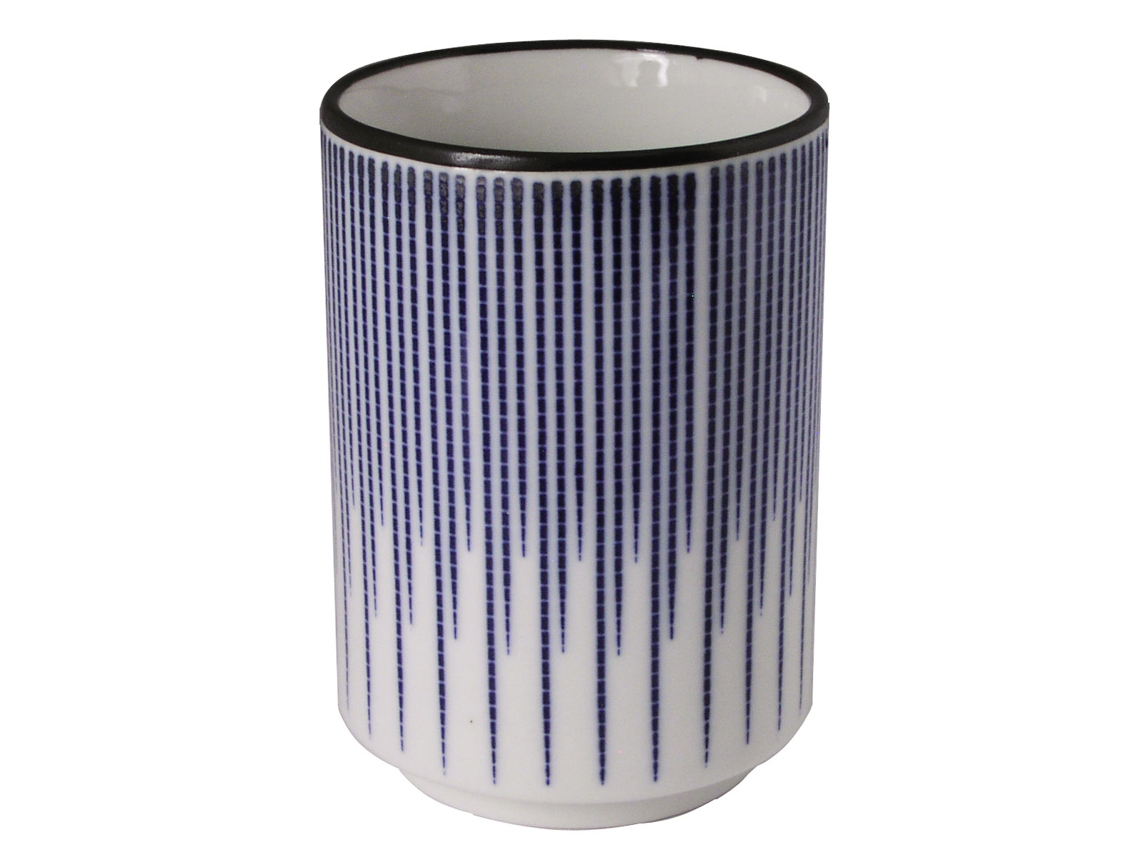 Blue And White Mosaic Rain Fall Japanese Tea Cup