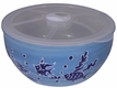 Blue and White Underwater Scene Noodle Bowl with Lid
