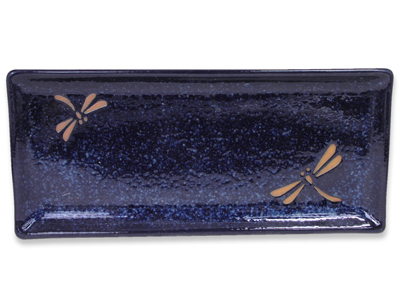 Blue Dragonfly Japanese Sushi Plate