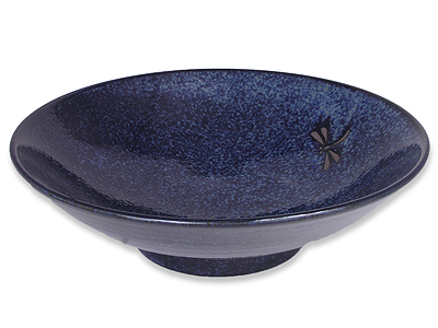 Blue Dragonfly Large Japanese Serving Bowl