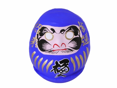 Blue Lucky Japanese Mini Daruma Doll