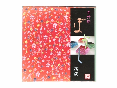 Cherry Blossom Asian Print Pattern Origami Paper