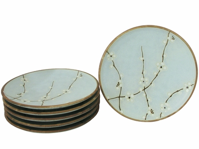 Cherry Blossom Collection Japanese Cherry Blossom Plates Set for Six