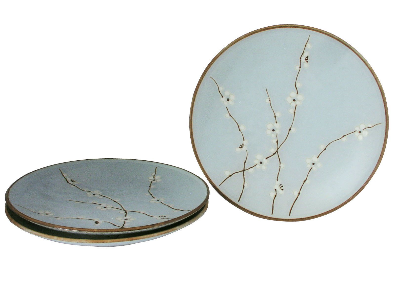 Cherry Blossom On Blue Japanese Dinner Plates Set for Three  sc 1 st  Mrs. Lin\u0027s Kitchen & Blossom On Blue Japanese Dinner Plates Set for Three
