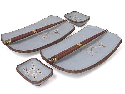 Cherry Blossom Tableware Set for Two II