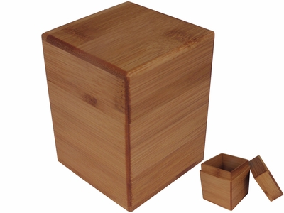 Chic Back to Basic Bamboo Tea Canister