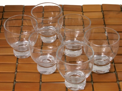 Clear Glass Sake Glasses Set for Five