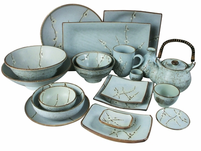 Japanese Tableware Sets  sc 1 st  Mrs. Linu0027s Kitchen : japanese square plates - Pezcame.Com