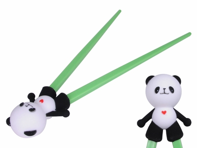 Cute White and Green Panda Chopsticks for Kids
