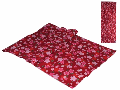 Deep Red and Pink Cherry Blossom Japanese Hand Towel