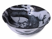 8-1/4 Inch Dragon in the Sky Black and White Japanese Noodle Bowl