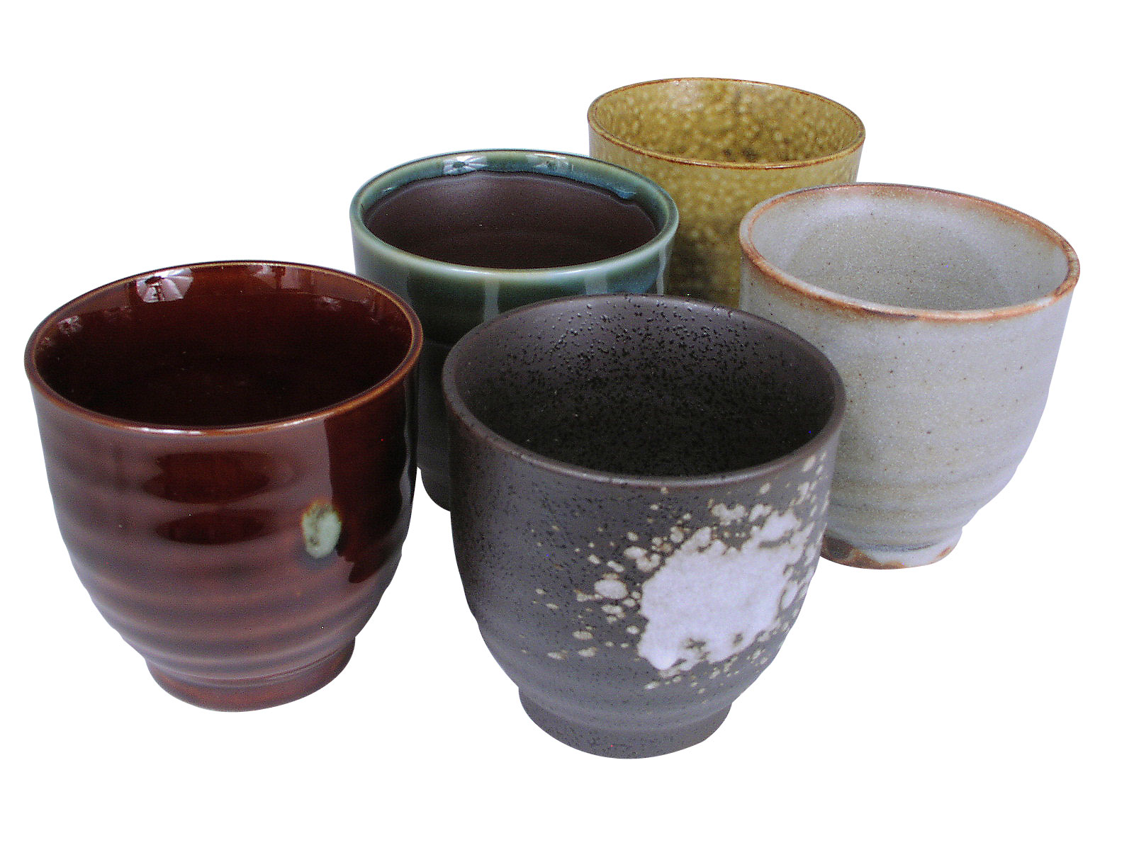 Earthen Japanese Tea Cups Set For Five