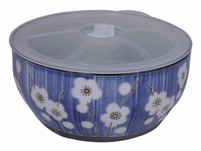Extra Large Elegant Cherry Blossom Ramen Bowl with Lid