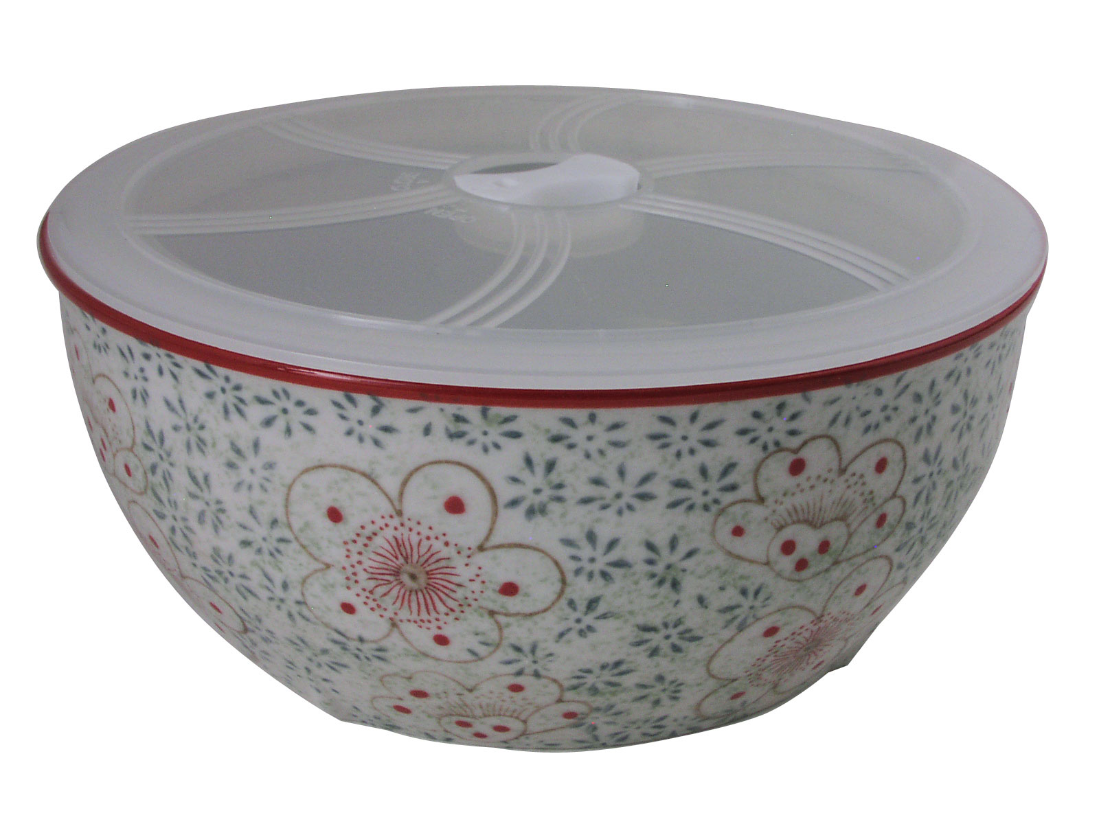 Extra large green floral dream large japanese rice bowl for Large plastic fish bowl