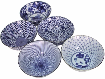 Five Pattern Noodle Bowl Set III