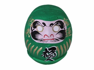 Forest Green Lucky Japanese Dharma Doll