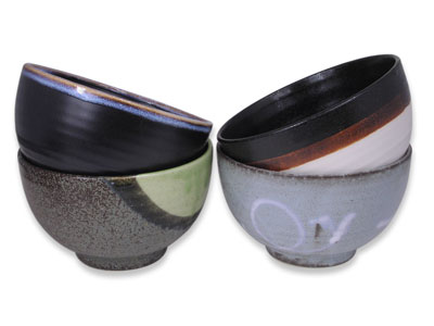 Four Elements Japanese Cereal Bowl Set of Four